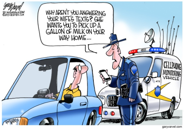 Cartoonist Gary Varvel: Police tracking cellphones