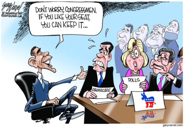 Cartoonist Gary Varvel: Obamacare, promises and nervous Democrats