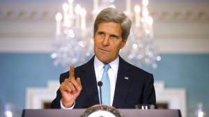 AA - John Kerry Raises Finger