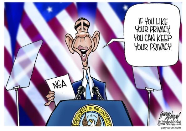 Cartoonist Gary Varvel: President Obama NSA reform promises