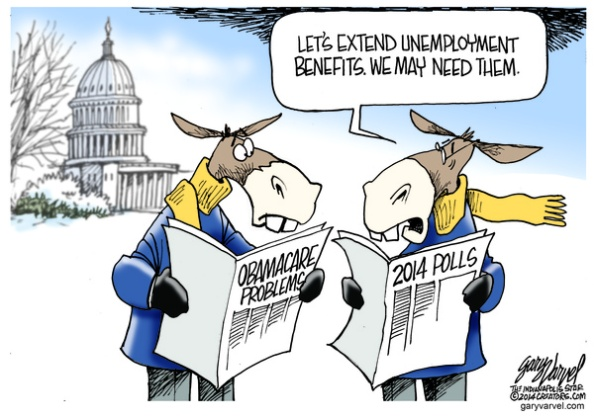 Cartoonist Gary Varvel: The politics of extending Unemployment benefits