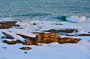 Very Cold at Two Lights State Park - Cape Elizabeth Maine in 2014