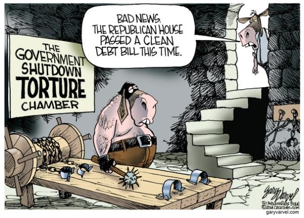 Cartoonist Gary Varvel: GOP and the debt bill