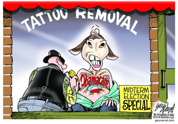 Cartoonist Gary Varvel: Democrats, Obamacare and tattoo removal