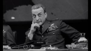 George C Scott in the role of General Buck Turgidson in the film Dr. Strangelove