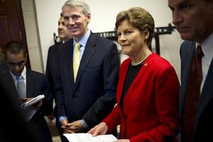 Sen. Rob Portman, R-Ohio; and Sen. Jeanne Shaheen, D-N.H. (Photo: Chris Maddaloni/CQ Roll Call/Newscom)