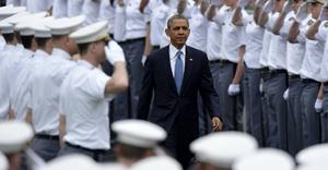 140528 WEST POINT May 28 2014 Xinhua U S President Barack Obama C attends the graduat
