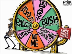 Cartoon -  Wheel of Excuses