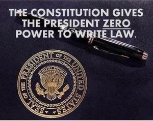 AA - Prez has no power to write law