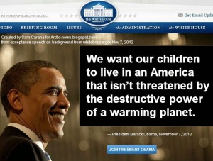 Obama Says Planet is Warming