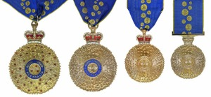 THE ORDER OF AUSTRALIA (Left to Right) Companion, Officer, Member, Medal