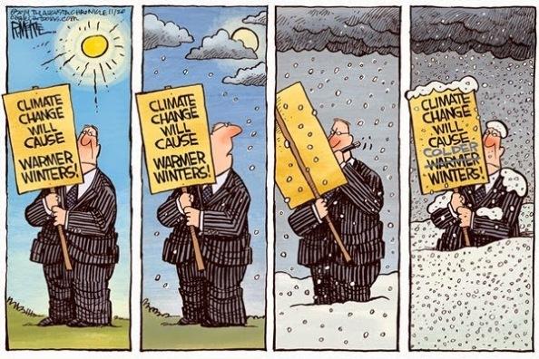 Cartoon - Climate Change & Warmer Winters