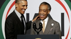 AA - Obama and Sharpton