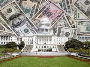 Capitol with Dollars