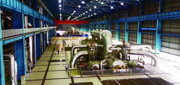 Steam turbines at the ultra-supercritical Waigaoqiao No. 3 (Shanghai) (photo courtesy of IEA CCC)