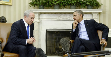 Israeli Prime Minister Benjamin Netanyahu and President Barack Obama meet for the first time since relations deteriorated over a nuclear deal between world powers and Iran. (Photo: Olivier Douliery/CNP/AdMe/SIPA/Newscom)