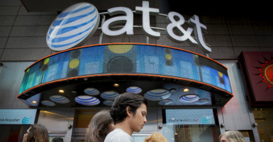 The leadership of Internet service provider AT&T has said the company has avoided offering some new services because of worries about violating net neutrality rules. (Photo: Brendan McDermid/Reuters/Newscom)