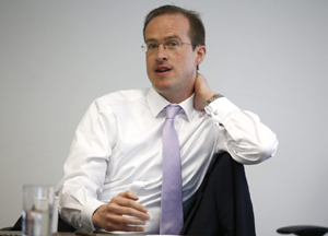 Matthew Elliott, the CEO of Vote Leave, the official campaign for Britain to leave the European Union, has been a strategist of multiple referendum efforts in the United Kingdom. (Photo: Peter Nicholls/Reuters/Newscom)