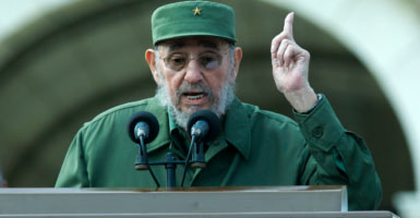 """""""Fidel Castro's legacy is one of firing squads, theft, unimaginable suffering, poverty and the denial of fundamental human rights,"""" said Donald Trump. (Photo: Jose Goitia/picture-alliance / dpa/Newscom)"""