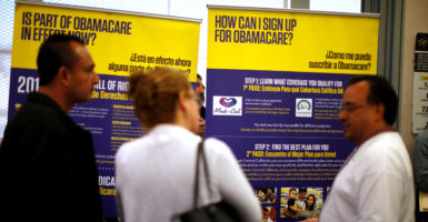 Republicans are considering delaying implementation of Obamacare's repeal for two years to help those who gained coverage under the law. (Photo: Lucy Nicholson/Reuters /Newscom)