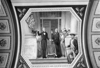 Andrew Jackson is sworn into office by Chief Justice John Marshall. (Photo: Picture History/Newscom)